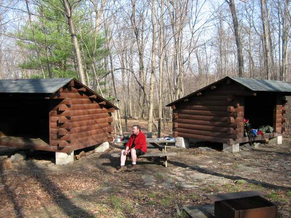 lick shelter trail appalachian Deer on